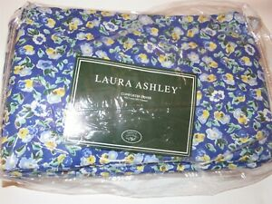 Laura Ashley Floral Gingham Queen Duvet Cover New