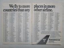 11/1980 PUB TRANSAMERICA AIRLINES PASSENGER CARGO SERVICES L-100 ORIGINAL AD