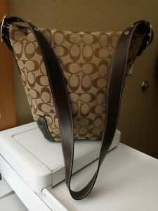 Coach C065-6076 Authentic signature Bucket handbag brown Monogram New w/out tags