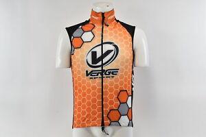 Verge Men's Elite Entropa Cycling Vest, Orange/Black, Large, Brand New