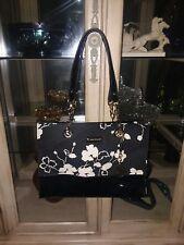 Anne Klein Animal Kingdom Black And White Shoulder Bag Purse With Chains EUC!