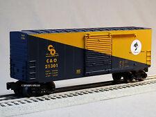LIONEL CHESSIE SYSTEM HI CUBE BOXCAR 21301 O GAUGE train freight c&o 6-82324-B
