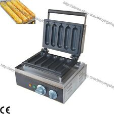 Commercial Nonstick Electric French Hotdog Waffle Stick Maker Iron Baker Machine