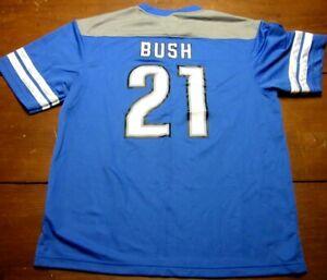 DETROIT LIONS mens lrg football jersey #27 snags Reggie Bush beat-up 2013 season