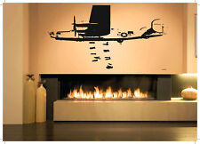 Decor Vinyl Sticker WW2 Bomber Plane Airplane Aircraft Jet Fighter War ZX121
