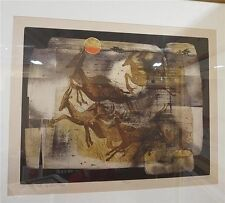 """R.S. Riddick - L/E Etching & Aquatint """" And the Beasts of the Field"""" Hand-signed"""