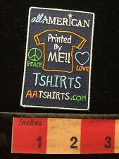 Peace Symbol Love Heart ALL-AMERICAN TEE SHIRTS Advertising Patch 60A2