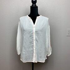NWT Size Medium Velvet by Graham & Spencer Embroidered Auburn Top