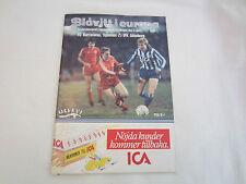 1985-86 Taza Europea semi-final IFK Goteborg v FC BARCELONA