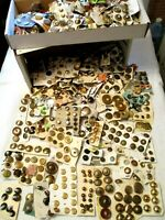 5.1 POUNDS - ALL VINTAGE Mixed Metals BRASS & GOLD Collectible Clothing BUTTONS