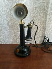 Vintage Pedestal Candlestick Telephone Table Top Lamp