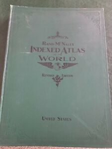 1905 Rand McNally Indexed Atlas of the World - Rare 2 volume folios - Excellent
