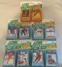 Lot of Five (5) Packs 1991 SCORE NHL Hockey Cards 101 Series 1 & 2 English