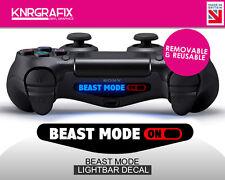 KNR2299 BEAST MODE ON | Dualshock 4 PS4 Lightbar Light Bar Decal DS4
