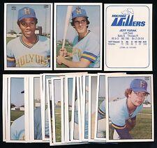 1978 TCMA Holyoke Millers Set (24) -MARSHALL EDWARDS, GARY HOLLE, JEFF YURAK
