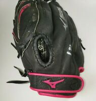 "Mizuno Jennie Finch 11"" Pink and Black Left Hand Throw Leather Glove GPP 1105F1"