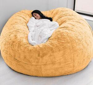 7ft Giant Big Soft Fur Bean Bag Luxury Living Room Portable Sofa free shipping
