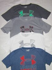Lot of 4 Boy's Under Armour Heatgear T-shirts Size Youth XL - Blue, Gray, White
