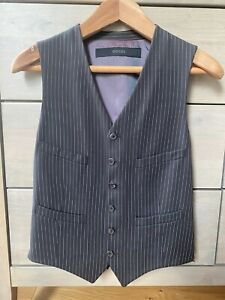 Gucci Mens Vintage Wool Brown Waistcoat Vest In Pristine Condition Size 46