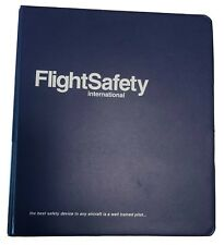 "Jeppesen Airway Manual Top Grain Cowhide Brown 2"" Binder Hold Open Bar"
