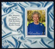 Gibraltar 2001 75th Birthday of Queen Elizabeth II Sheet SG MS977 Unmounted Mint