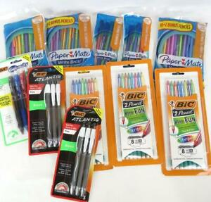 School Office Supplies Pen and Pencil 10 Packages Paper Mate Bic 78 pieces + Ext