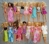 20 fashion dolls BARBIE & SIMILAR most mattel some vintage dressed BULK LOT 2