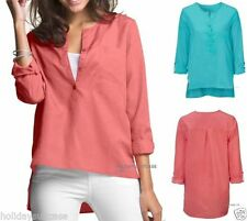 Polyester Collared Tunic Tops for Women