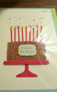 Papyrus Happy Birthday Card - Cake w/ Sprinkles, Gems -- to an amazing person!