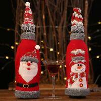 Merry Christmas Santa Wine Bottle Bag Cover Xmas Festival Party Table Decor