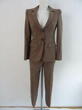 Armani Collezioni Damen Hosenanzug Blazer Hose It.36 Dt.32 Braun 100% Wolle