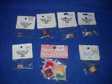 Miniature accessories: cereal box, cracker box, etc., 1:12 scale, Nib, lot #13