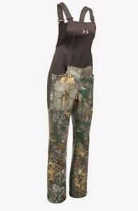 Under Armour Women's Med Mid Season Real Tree Camo Hunting Bib 1282692-947 @kw1