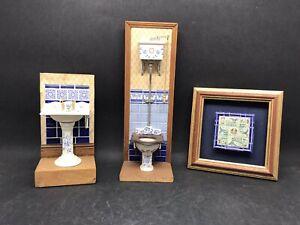 Fabulous Anne Shepley Bathroom Settings Miniatures & Tiles (Y2 268)