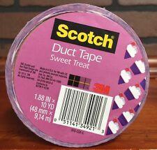 "Scotch Duct Tape Sweet Treat Cupcake  1.88"" x 10 Yards Stock 510"