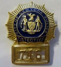 TOP Repro Badge  NEW YORK  DETECTIVE  Polizei Marke Abzeichen Police Dept. NYPD