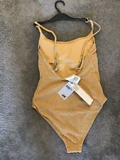 H&M Swimming Costume Size UK 6 (EUR 34) Padded Gold Sparkly New With Tag .