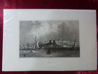 Antique engraving VIEW of RYDE, ISLE OF WIGHT c1830 Veduta Rare art print (#1)