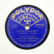 "LOUIS PRIMA & HIS NEW ORLEANS GANG ""Stardust"" POLYDOR 580.009 [78 RPM]"