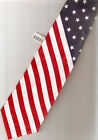 Tie New Red White Blue Stars Stripes Flag Patriotic