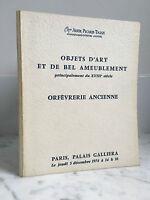 Catalogue Di Vendita Tajan Ader Picard Articolo Arte Tappezzeria 5 Dicembre 1974
