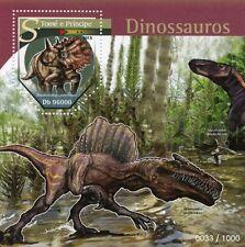 Sao Tome & Principe 2015 MNH Dinosaurs 1v S/S Regaliceratops peterhewsi Stamps