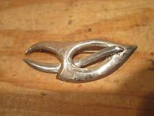 Erika Hult de Corral Vintage Sterling Silver Modernist Brooch Pin Jewelry 925