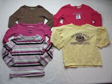 Toddler Long Sleeve Shirt Lot of 5 Mixed Brands Cotton Size 3T  #7071