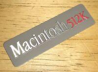 1984 Macintosh 512K Original Rear Aluminum Case EMBLEM for Mac Model M0001W NICE