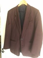 Brook Taverner 100% Wool 42R Burgundy Check Sports Jacket