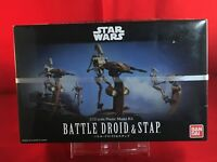 Bandai 1/12 Battle Droid and Stap Star Wars Plastic Model Kit