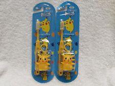 Pokemon Pikachu Kids Tooth Brush & Case Cap Brand-New USA FREE SHIP NINTENDO