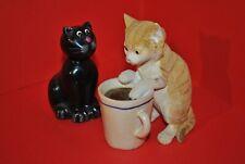 Chat noir et chat roux