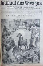 JOURNAL DES VOYAGES 954 de 1895 TYRANNIE DES BETES / GUERRE 1870 / DUEL NAVAJA